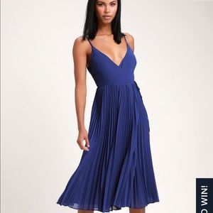 Royal Blue LuLu's wrap dress